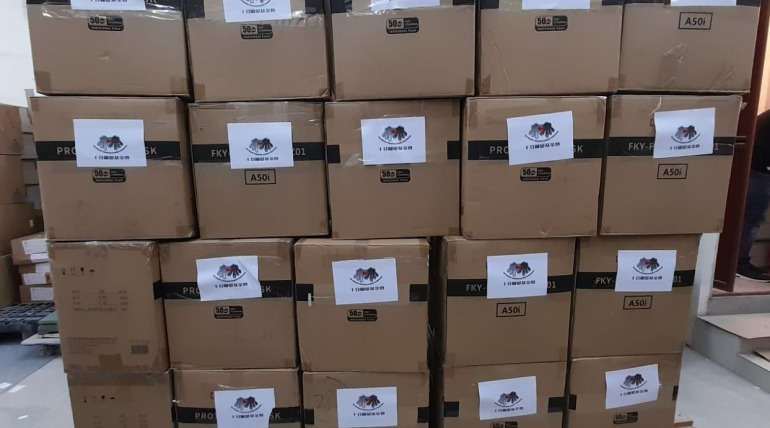 Donation of prevention supplies-534,000 masks
